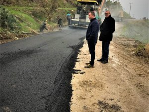 Mahmutlar'a sıcak asfalt