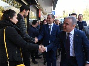 Başkan Adayı Muhittin Böcek, Elmalı'da SKM açtı