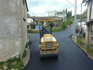 Manavgat'a sıcak asfalt