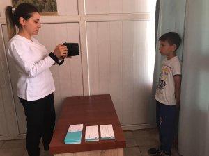 Kepez'de öğrencilere  göz taraması yapıldı