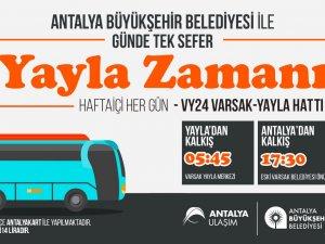 Büyükşehir'den Varsak Yaylasına otobüs seferi