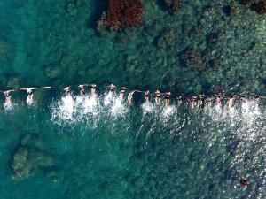Yıldız takım antrenmanı denizde yaptı