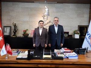Başkan Semih Esen, ABB Başkanı Tütüncü'yü ağırladı