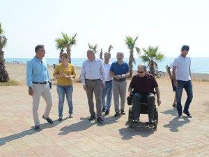 Büyükşehir Belediyesi Lara'ya engelsiz plaj yapıyor