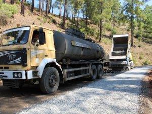 6 km'lik yol sathi asfaltla kaplandı