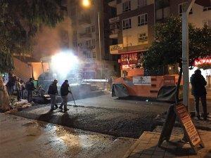 Güllük Caddesi asfaltında ikinci etap da tamamlandı
