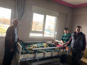 Hasta yatağı yardımları devam ediyor