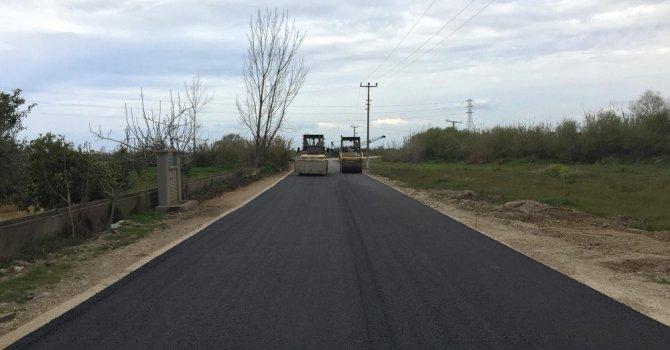 ASAT alt yapı çalışması biten yollarda asfaltlama yapıyor