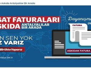 Büyükşehir Belediyesi 'Askıda Fatura' uygulaması başlattı