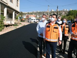 Erenköy'de asfalt tamam sırada doğal gaz var