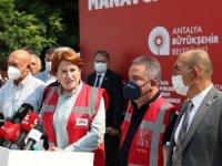 Meral Akşener Manavgat Afet Yönetim Merkezini Ziyaret Etti