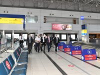 Vali Yazıcı Antalya Havalimanı'nda