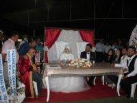 Stadyumda düğün töreni
