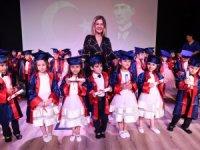 Belediye kreşinde  mezuniyet sevinci
