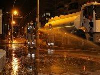 Büyükşehir'den otogar ve caddelerde virüs temizliği