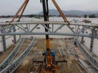 Kaş Ova Spor Salonu inşaatı tüm hızıyla devam ediyor